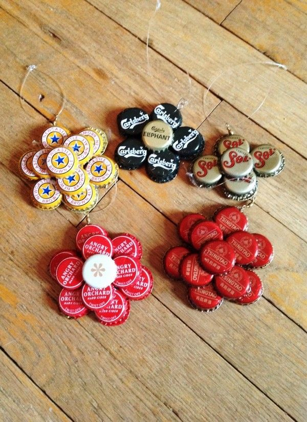 30 kreativn ch n pad jak vyu t v ka do l hv ve va for What can i make with beer bottle caps
