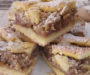 Mřížkový ořechový koláč se zakysanou smetanou a vláčnou chutí ! Připravený za 10 minut!