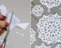 Kreativní nápad na překrásnou vánoční dekoraci z obyčejného listu papíru! Výroba zabere jen 5 minut!