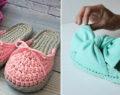 Kreativní nápady na úžasné háčkované pantofle různých barev! Jsou pohodlné, módní a přitom praktické!