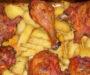 Zapečené kuřecí stehna s brambory a zeleninou na jednom plechu! Rychlá večeře pro celou rodinu!
