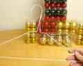 Vezme obyčejné ramínko a vytvoří něco nádherného! Kreativní nápad na překrásnou vánoční dekoraci!